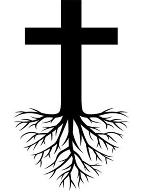 cross tree roots tattoo design coffee shop ideas