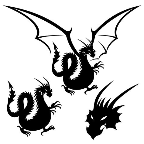 dragon tattoo vector dragon tattoo element vector material vector other free