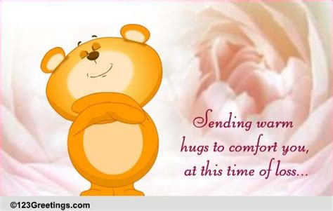 how to give a comforting hug hugs to comfort free sympathy condolences ecards