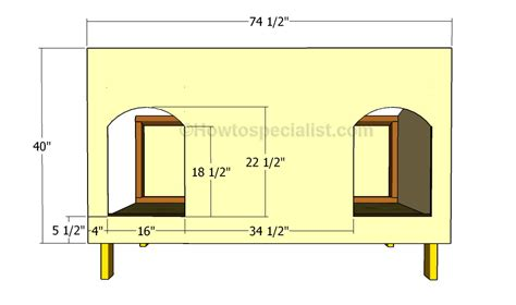 how to build a double dog house how to build a double dog house howtospecialist how to build step by step diy plans