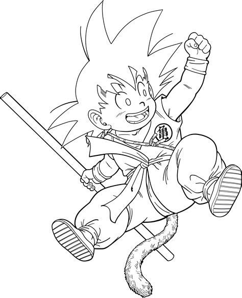 young goku coloring pages dragon ball kid goku 14 dragon box lineart by