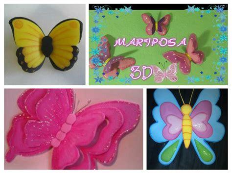 imagenes mariposas de fomi mariposa 3d en foamy y con la t 233 cnica termoformado