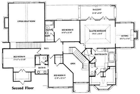 five bedroom house plans european style house plan 5 beds 3 5 baths 4263 sq ft