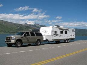 Truck Tires Towing Travel Trailer Rooftop Air Deflector Towing Travel Trailer Ford Truck