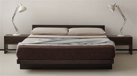 bed with low headboard kumo low wooden beds japanese style natural bed