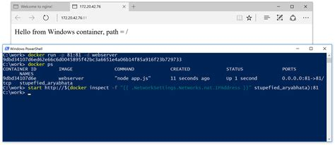 docker start image run linux and windows containers on windows 10