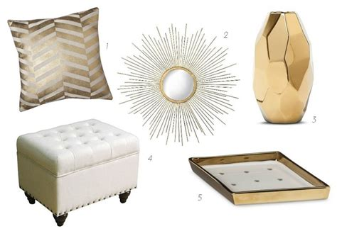 update your apartment with glam white gold accessories