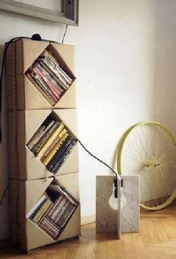librero reciclado de carton mira como hacer un librero de carton con dise 241 o sin igual