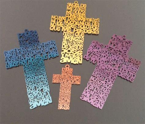 ideas para decorar cruces de madera para baurizo cruz de madera con oraci 243 n primera comuni 243 n pinterest
