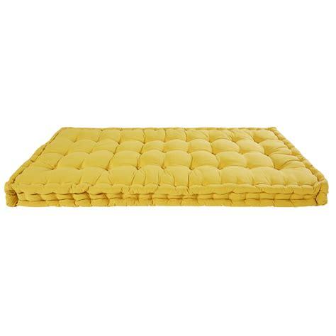 matratze 90x190 matratze aus senffarbener baumwolle 90x190cm maisons du