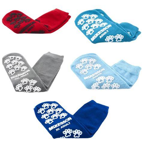 mckesson slipper socks mckesson terries imprint above ankle slipper socks