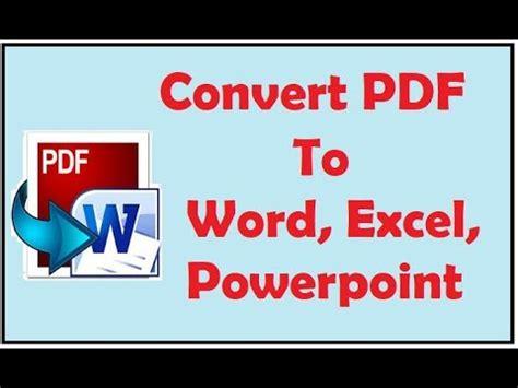 Convert Pdf To Word Merge | convert pdf to word excel powerpoint split pdf merge