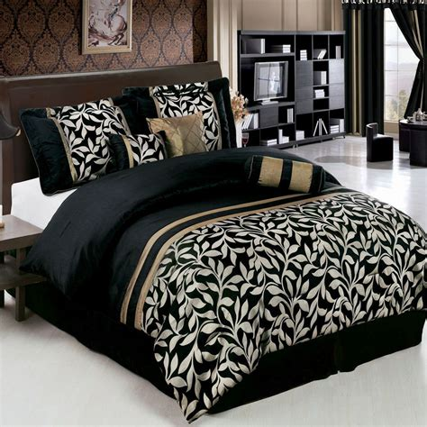 chandler bedroom set elegant 7pc chandler black and gold comforter bedding set
