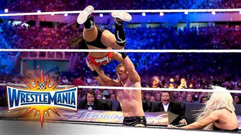 maryse matches john cena nikki bella vs the miz maryse wrestlemania