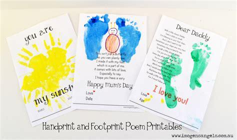 Handprint And Footprint Poem Printables kid s and painting handprint and footprint poem