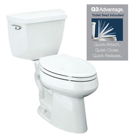 lowes bathroom toilets shop kohler highline classic white watersense labeled