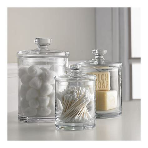 Glass Storage Jars Bathroom Glass Canisters For Bathroom Storage Again Don T To Be Exact Just A Similar Style