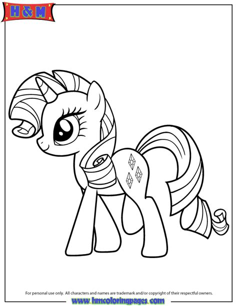 Rarity Coloring Pages hasbro playful pony rarity coloring page h m coloring