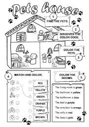 Multi Level House Floor Plans English Worksheet Pets House
