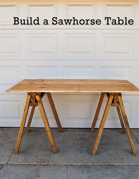 Diy Sawhorse Desk 18 Diy Sawhorse Desk Plans Guide Patterns