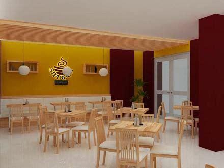 jasa gambar desain   murah berpengalaman konsep desain interior cafe  resto minimalis