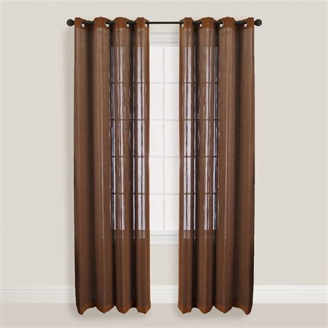 bamboo drapes with grommets walnut bamboo curtains with grommets world market