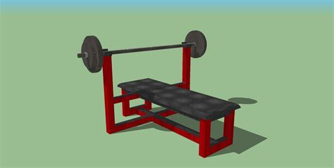 image 3 4 weight bench weight bench 3d model