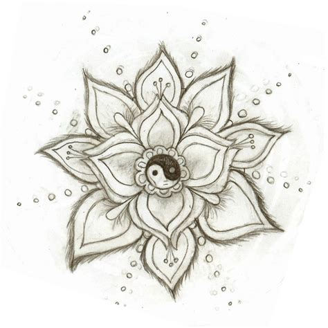 yin yang flower by skysage on deviantart