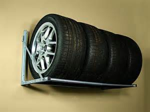 wall mount folding tire storage rack loft garage shop hang