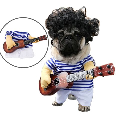 new year costumes for pets pet guitar player costume guitarist