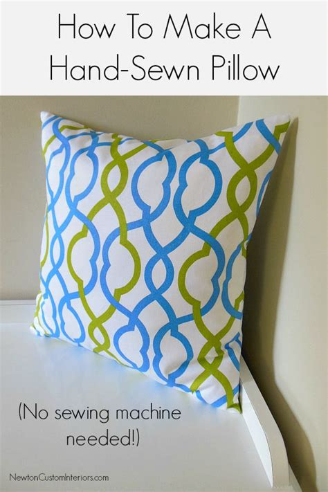 How To Make Pillows Without A Sewing Machine by How To Make A Sewn Pillow Newton Custom Interiors