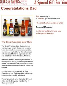 Gift Card Of The Month Club - clubs of america beer of the month club review