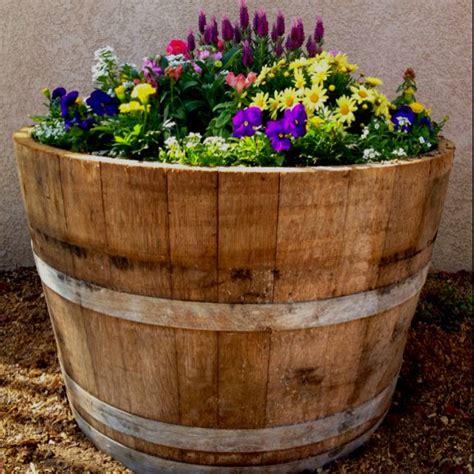Wine Barrel Garden Ideas Best 25 Wine Barrel Planter Ideas On Solar Hanging Lights Barrel Garden Ideas And