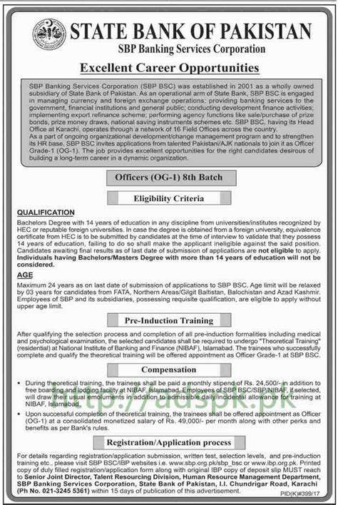 State Bank Application State Bank Of Pakistan Batch 8th 2017 Officers