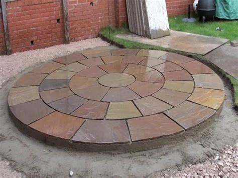 Laying A Circular Patio by Constructing A New Marshall S Fairstone Riven Patio Ljn