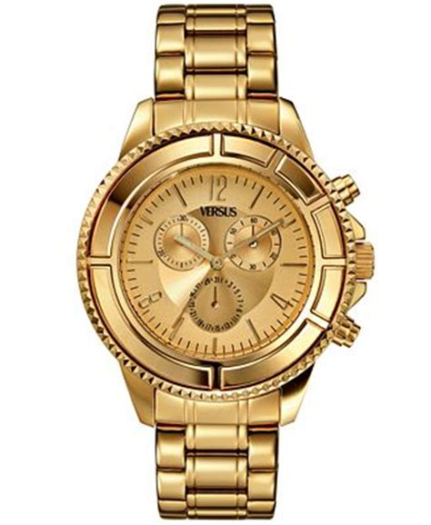 versus by versace unisex chronograph tokyo gold ion