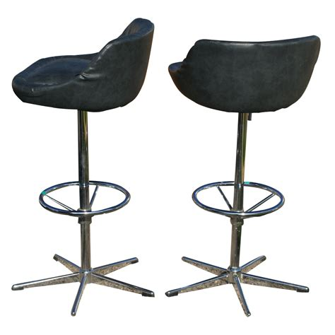 vintage bar counter stools arne jacobsen style base mr