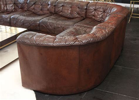 7 piece leather sectional sofa 1970s six piece leather sectional sofa at 1stdibs
