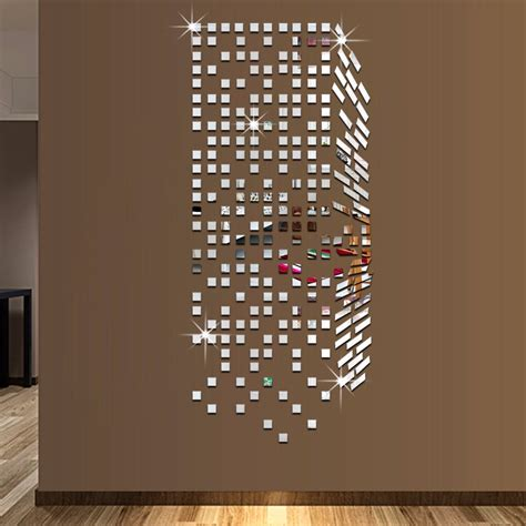 mirror home decor mirror mosaic background wall stickers home decor diy