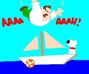 peter griffin boat to the hindenpeter drawception