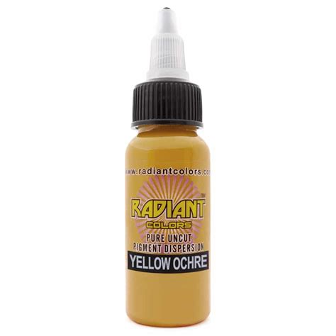 tattoo ink radiant colors yellow ochre