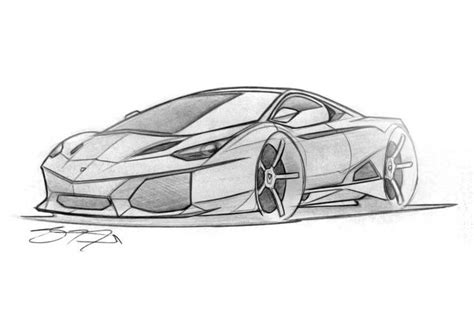 Lamborghini Drawings In Defense Of The Batshit Lamborghini Egoista The