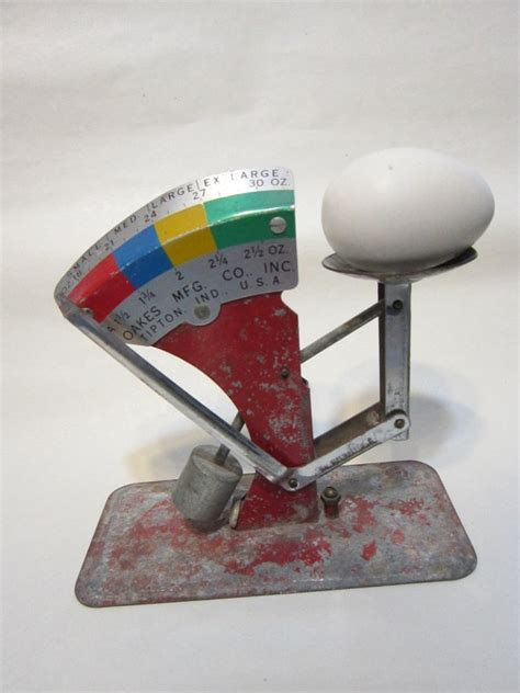 design manufacturing oakes antique egg scale great graphics nice color oakes mfg