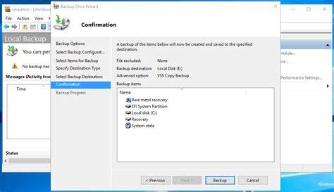 windows image backup create a system image backup for windows server 2016