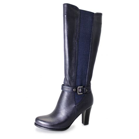 navy boot c location lola glc413 navy synthetic leather boot