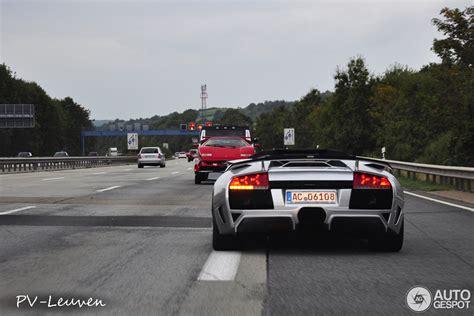 Lamborghini On Autobahn Lamborghini Murcielago Roadster Burns On German Autobahn