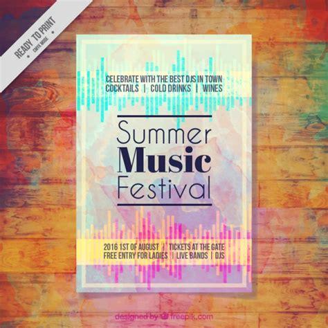 Festival Brochure Design by Watercolor Artistic Festival Brochure Vector Free