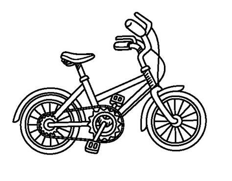 imagenes para colorear bicicleta dibujo de bicicleta para ni 241 os para colorear dibujos net