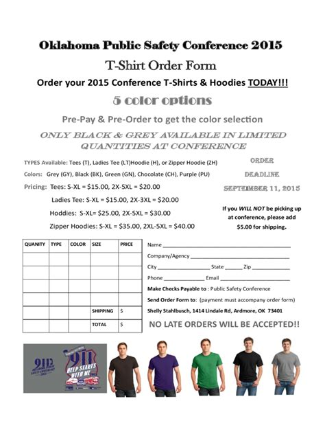 t shirt order form 6 free templates in pdf word excel