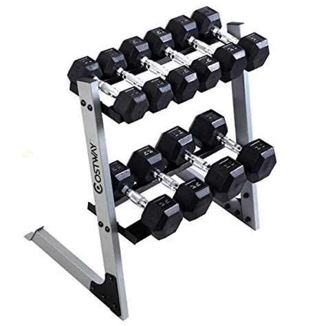 giantex dumbbell weight storage rack stand home bench